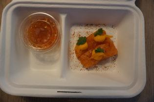 Die kalte Vorspeise – Gebeizter Lachs, Süßkartoffel & Kumquat