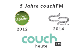 5 Jahre couchFM Logo-Collage